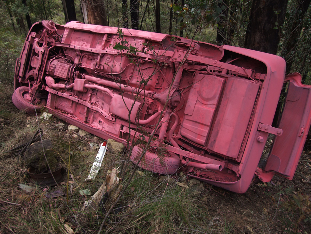 Pink Car. Found wreck Wombat State Forest, Musk 2014