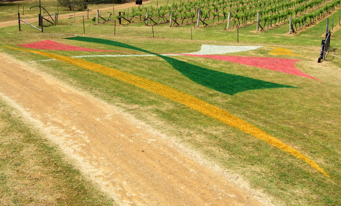 Untitled Work 30x20m Sculpture in the Vineyards Wollombi 2014
